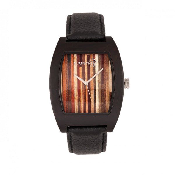 Earth Wood Cedar Leather-Band Watch - Dark Brown - Earth Wood Goods - Wood Watches, Wood Sunglasses, Natural Cork Bags