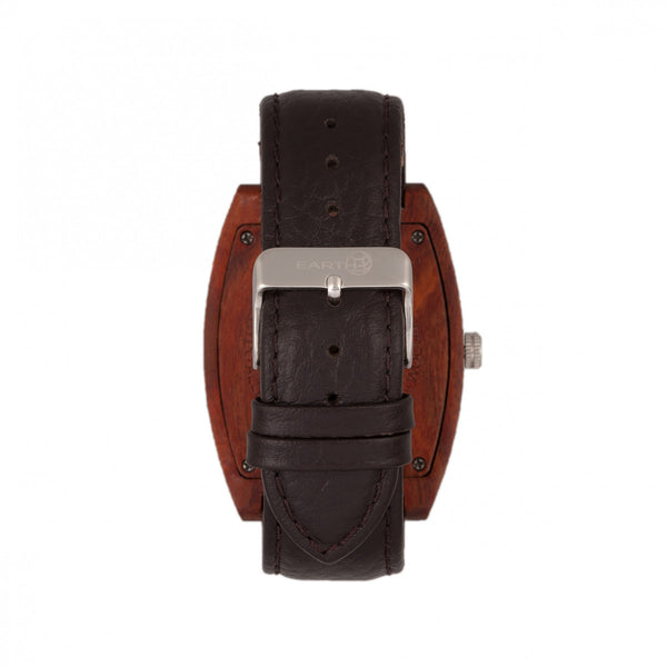 Earth Wood Cedar Leather-Band Watch - Red - Earth Wood Goods - Wood Watches, Wood Sunglasses, Natural Cork Bags