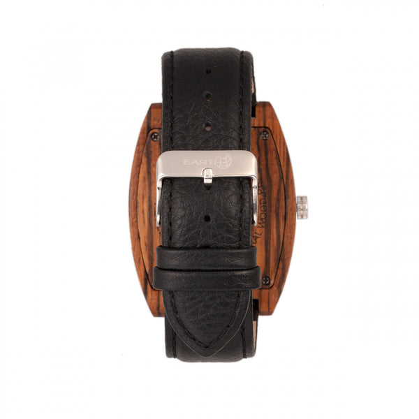 Earth Wood Cedar Leather-Band Watch - Olive - Earth Wood Goods - Wood Watches, Wood Sunglasses, Natural Cork Bags
