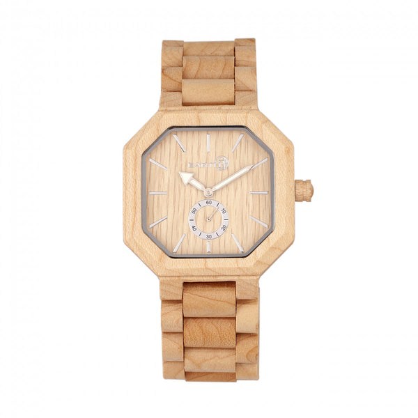 Earth Wood Acadia Bracelet Watch - Khaki/Tan - Earth Wood Goods - Wood Watches, Wood Sunglasses, Natural Cork Bags