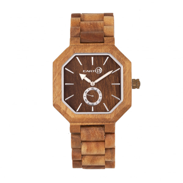 Earth Wood Acadia Bracelet Watch - Olive - Earth Wood Goods - Wood Watches, Wood Sunglasses, Natural Cork Bags