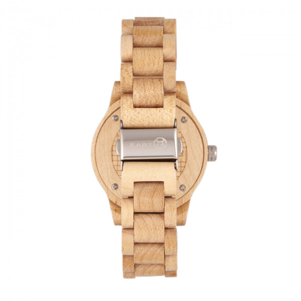Earth Wood Tuckahoe Marble-Dial Bracelet Watch - Khaki/Tan - Earth Wood Goods - Wood Watches, Wood Sunglasses, Natural Cork Bags