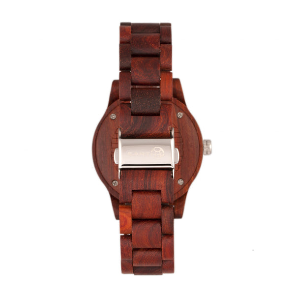 Earth Wood Tuckahoe Marble-Dial Bracelet Watch - Red - Earth Wood Goods - Wood Watches, Wood Sunglasses, Natural Cork Bags