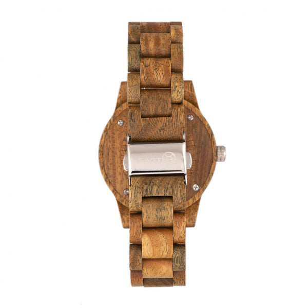 Earth Wood Tuckahoe Marble-Dial Bracelet Watch - Olive - Earth Wood Goods - Wood Watches, Wood Sunglasses, Natural Cork Bags