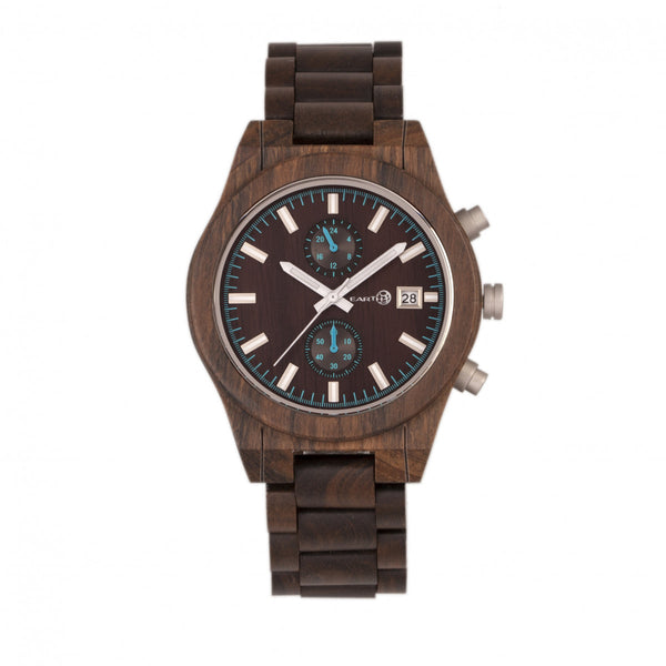 Earth Wood Castillo Bracelet Watch w/Date-Khaki