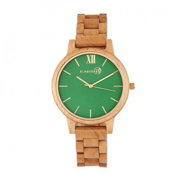 Earth Wood Pike Bracelet Watch - Khaki-Tan - Earth Wood Goods - Wood Watches, Wood Sunglasses, Natural Cork Bags