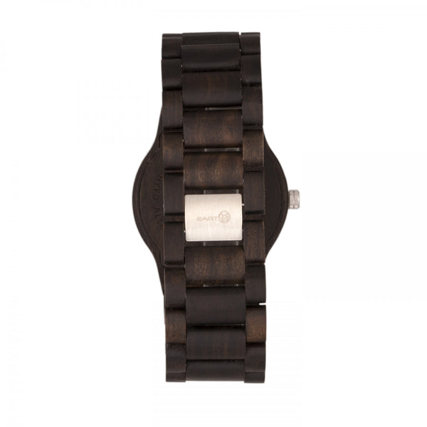 Earth Wood Bonsai Bracelet Watch w/Day/Date - Dark Brown - Earth Wood Goods - Wood Watches, Wood Sunglasses, Natural Cork Bags