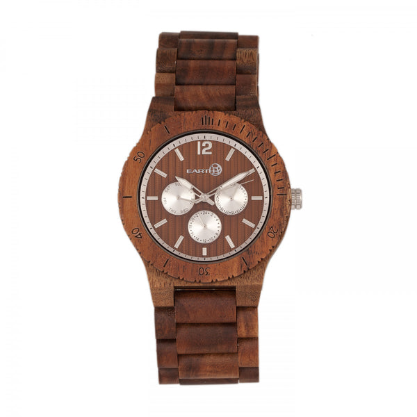Earth Wood Bonsai Bracelet Watch w/Day/Date - Olive - Earth Wood Goods - Wood Watches, Wood Sunglasses, Natural Cork Bags
