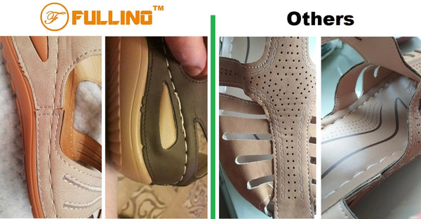 FULLINO women's Sandals for walking and working with arch support