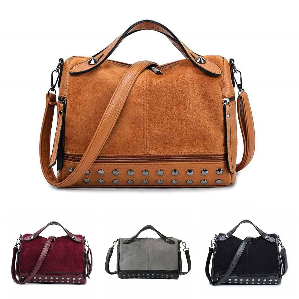 Women's Rivet Retro Handbags - FULLINO