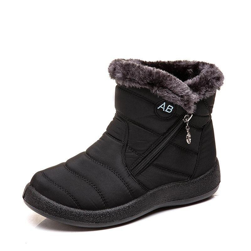 Women's Comfortable Fur Lined Boots - FULLINO