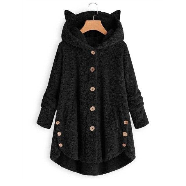 Women's Fashion Fur Hooded Jacket For Winter - FULLINO