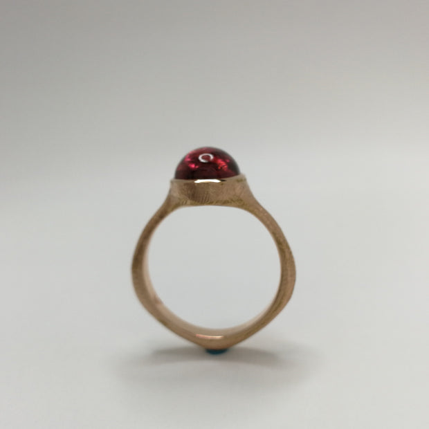 Rose Gold Spontaneita Ring with Pink Tourmaline