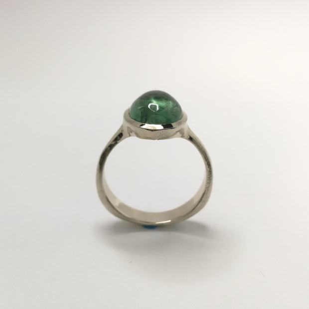 White Gold Spontaneita Ring with Teal Tourmaline