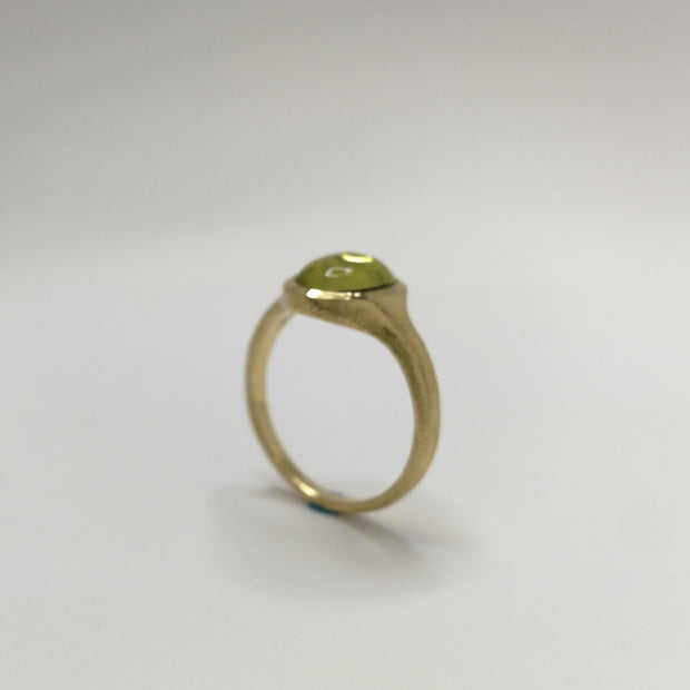 Yellow Gold Spontaneita Ring with Yellow Tourmaline