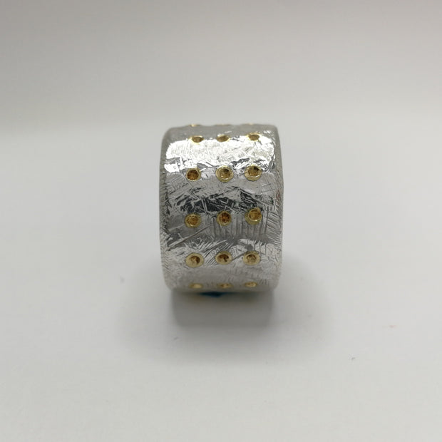 Sterling Silver Band with 39 Studs