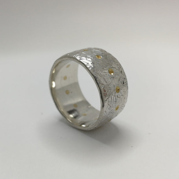Sterling Silver Band with 13 Studs
