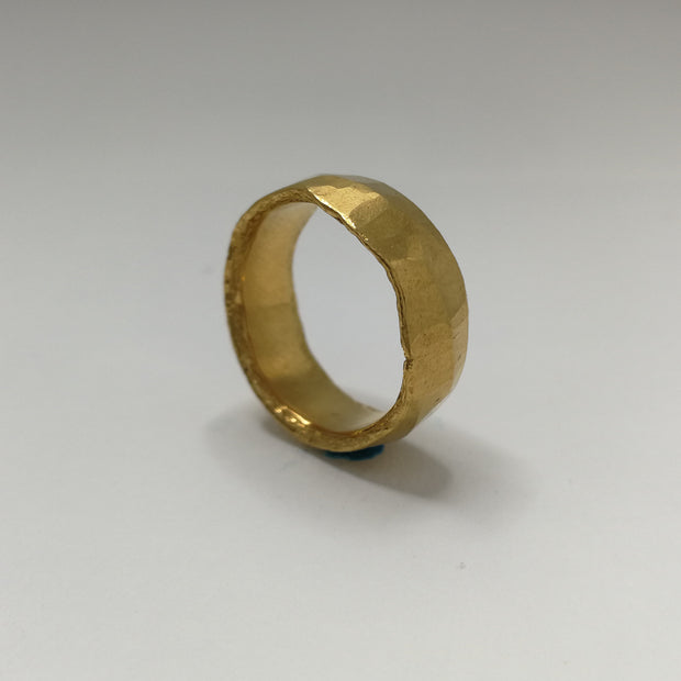 Forged Pure Gold Wedding Ring email for pricing
