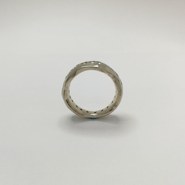 Gnarly Diamond Infinity Ring in White Gold