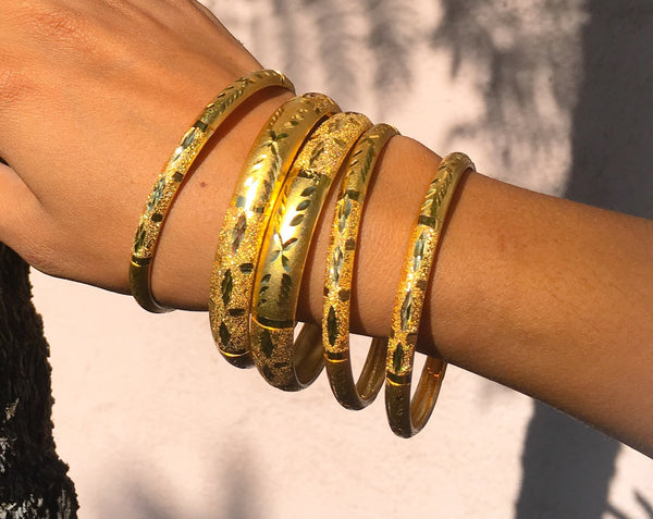 Play it Gold Bangles