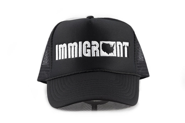 The Charcoal Trucker Hat-Immigrant Apparel