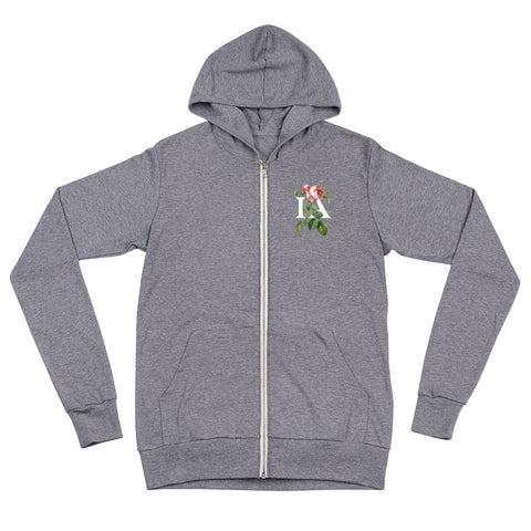 Rose Zip up hoody by Immigrant Apparel