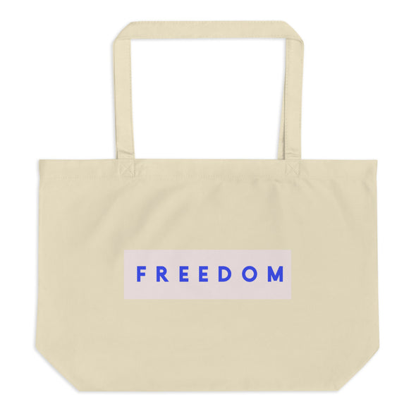 Large Organic FREEDOM Tote Bag-Immigrant Apparel