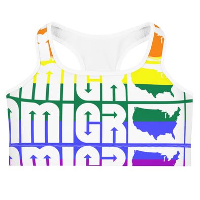 IA Pride Sports bra-Immigrant Apparel