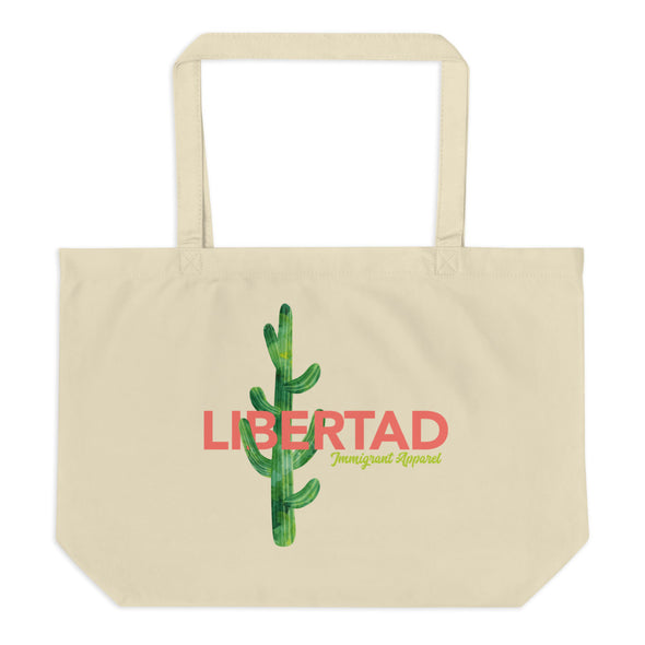Large Organic Libertad Tote Bag-Immigrant Apparel