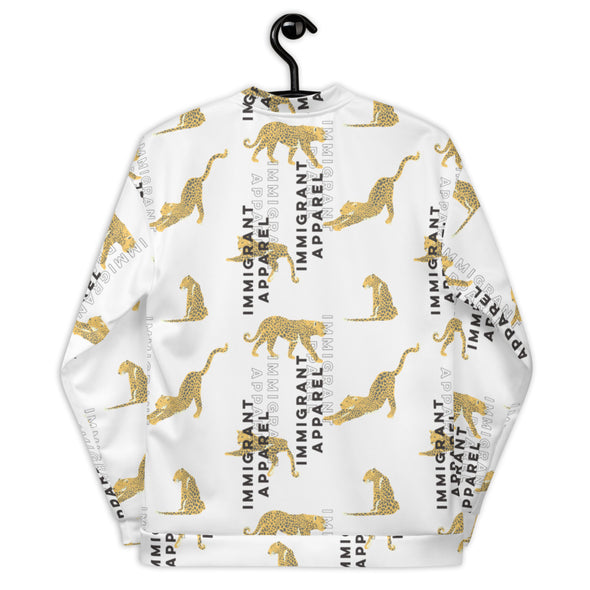 Unisex Cheetah Bomber Jacket-Immigrant Apparel