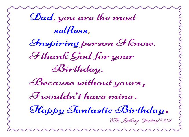 bd0005 Dad's Birthday  Sentiment