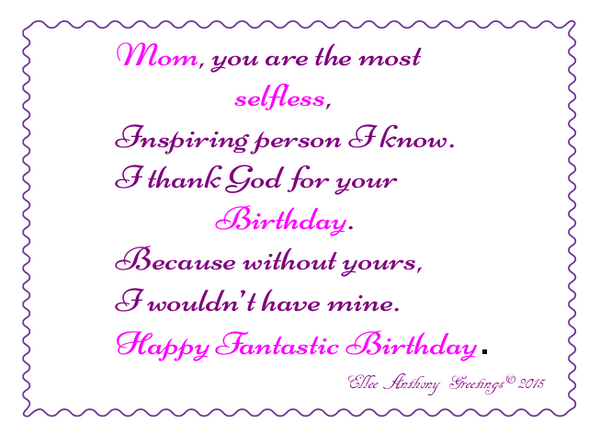 bd0006  Mom's Birthday     Sentiment