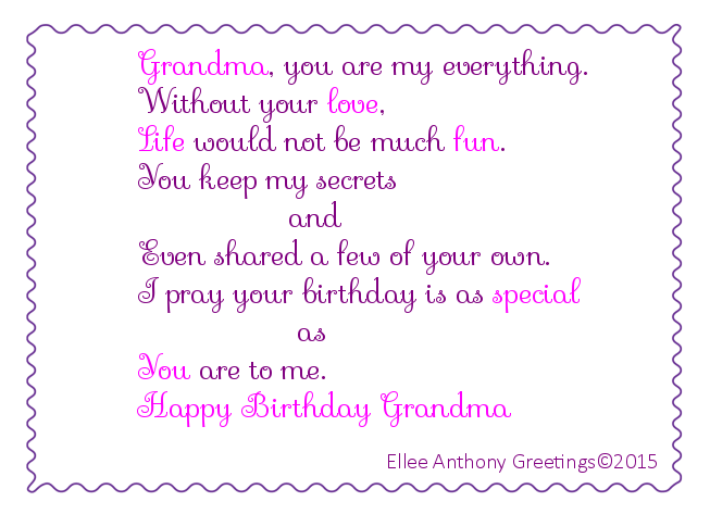 bd0012 Grandma's Birthday   Sentiment