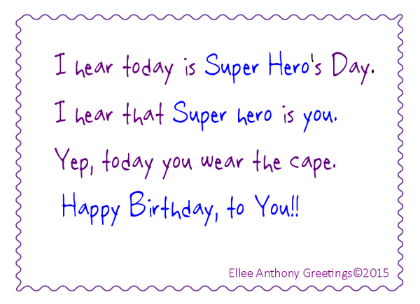 c0010    Super Hero's Birthday      Sentiment