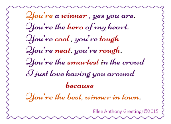 c0011  You're a Winner.    Sentiment