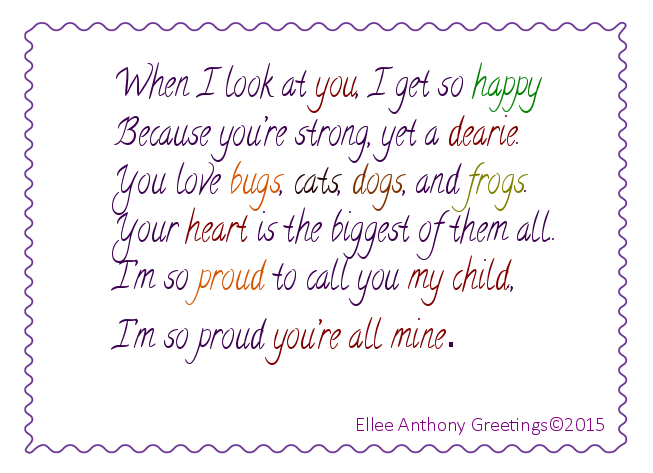 C0012 Proud Of You Sentiment Ellee Anthony Greeting Cards