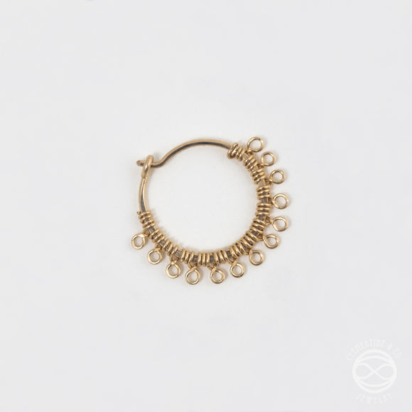 Filigree Nose Ring in Gold
