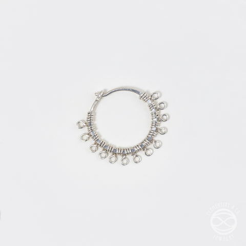 Filigree Nose Ring in Silver