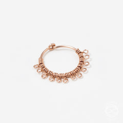 Filigree Nose Ring in Rose Gold