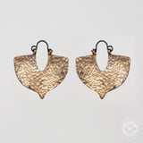 Shield Earrings in Silver