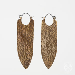 Banner Earrings in Antiqued Brass
