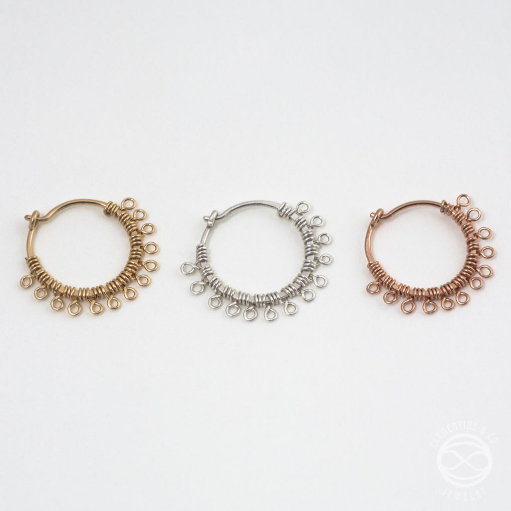 Handmade Filigree Nose Rings in Rose Gold Clementine Co Jewelry