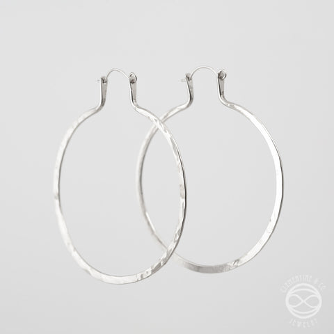 Forged Hoops in Silver