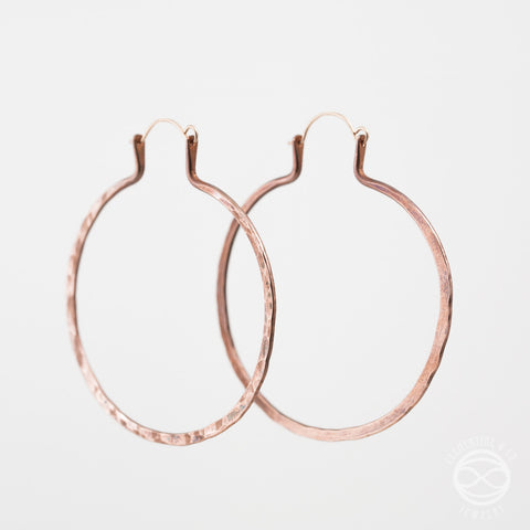 Forged Hoops in Copper