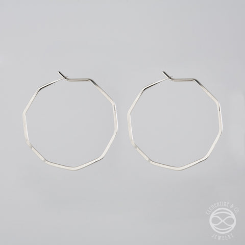Pi Earrings - Nonagon