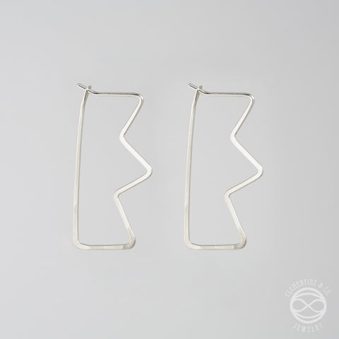 Pi Earrings - Thunderbolt
