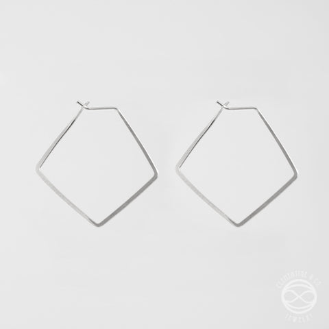 Pi Earrings - Diamond