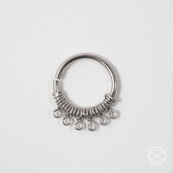 Filigree Septum Ring in Silver