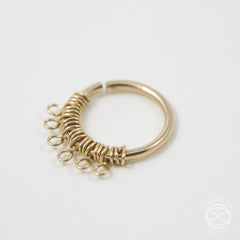 Filigree Septum Ring in Gold