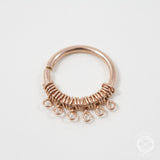 Filigree Septum Ring in Rose Gold